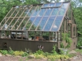Large redwood greenhouse in New York