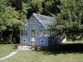 Tudor Garden greenhouse stained gray