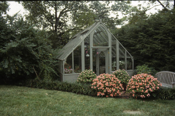 Tudor Greenhouse (12 x 18 size), stained gray