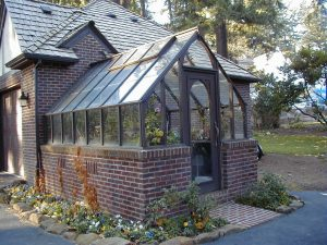 Custom Greenhouse -Tudor with one end attached