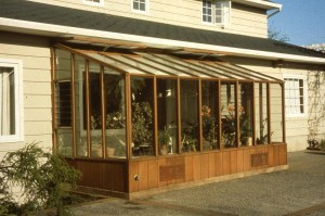 Garden Sunroom kits Greenhouse under eave