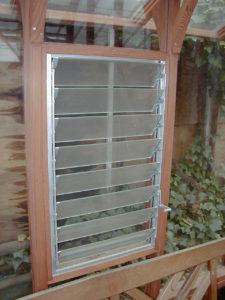 Greenhouse jalousie window