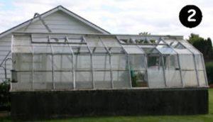 Old greenhouse in disrepair