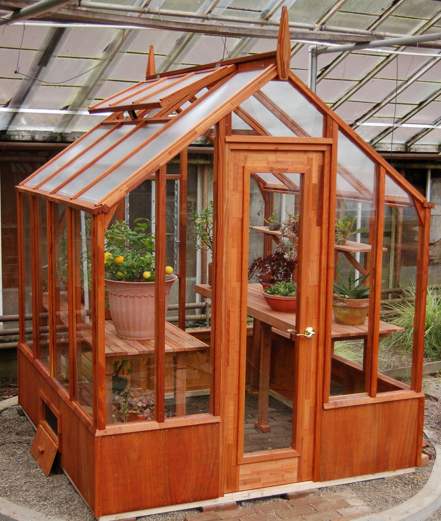 Home greenhouse kits redwood glass wide variety of for Greenhouse styles