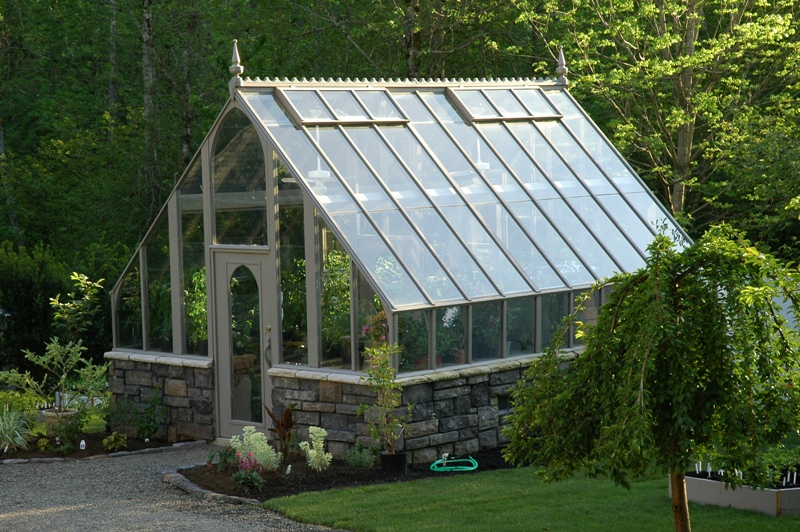 Gothic style greenhouse kit for Green home building kits