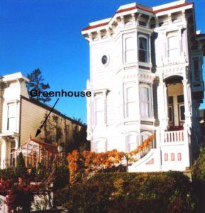 San Francisco Victorian greenhouse