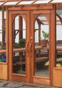 Nantucket greenhouse double doors