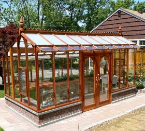 Redwood greenhouse kit - a Nantucket model